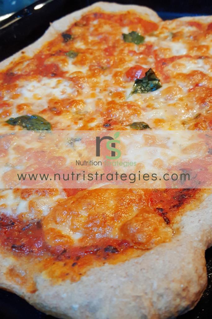 Pizza Margherita integrale a lenta maturazione